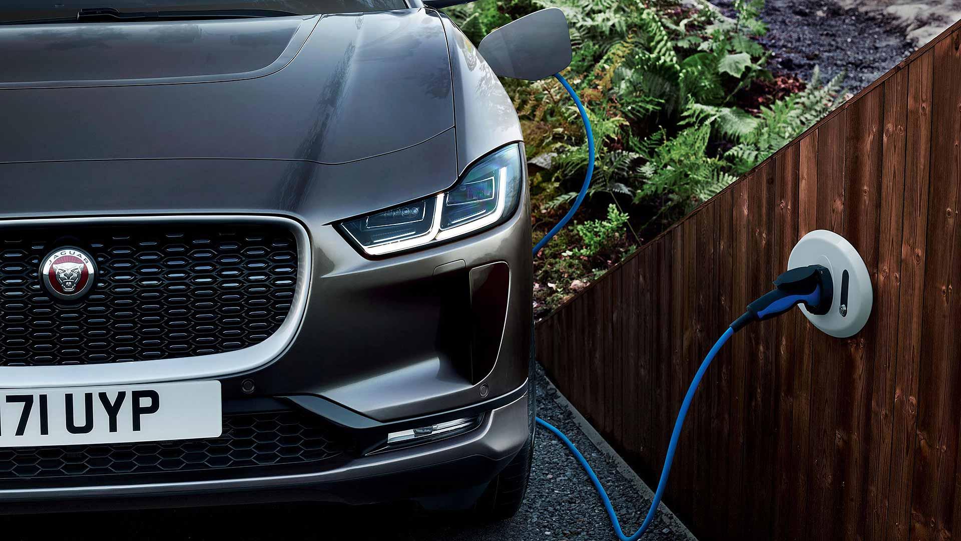 Jaguar I-Pace recharging