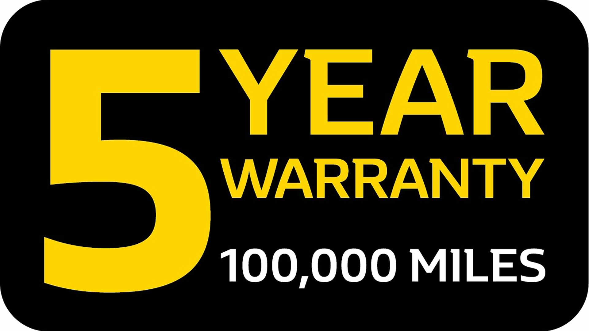 Renault 5-year 100,000-mile new car warranty