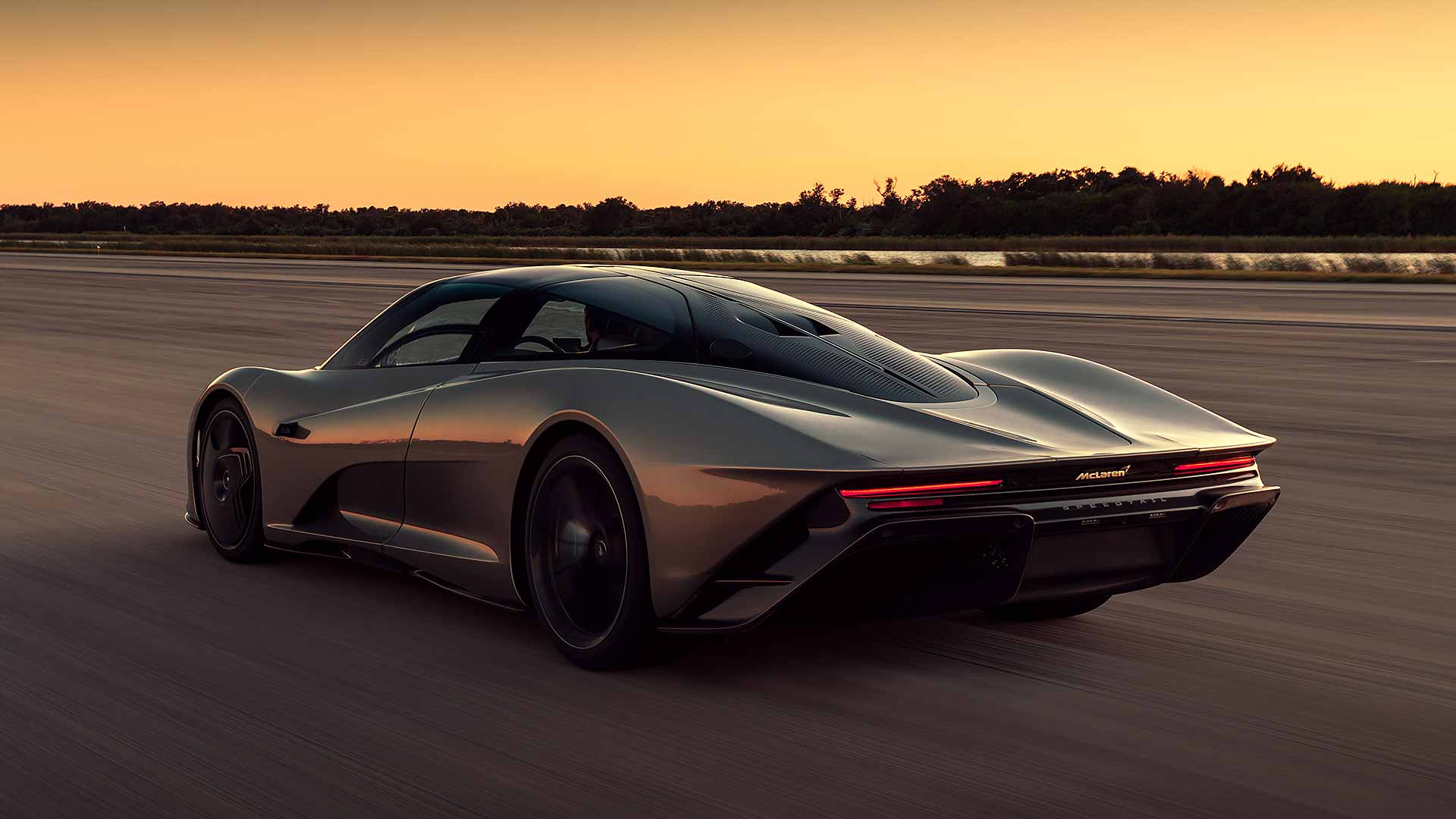 McLaren Speedtail during high-speed testing