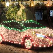 Nissan Leaf Christmas tree