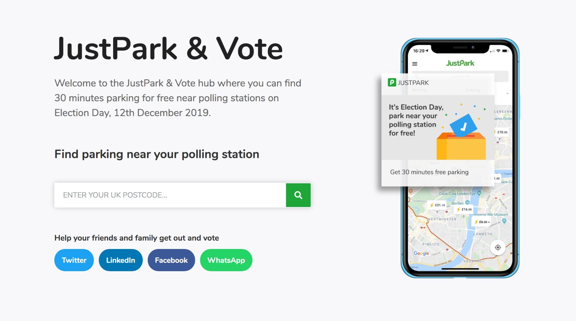 Free parking for election 2019