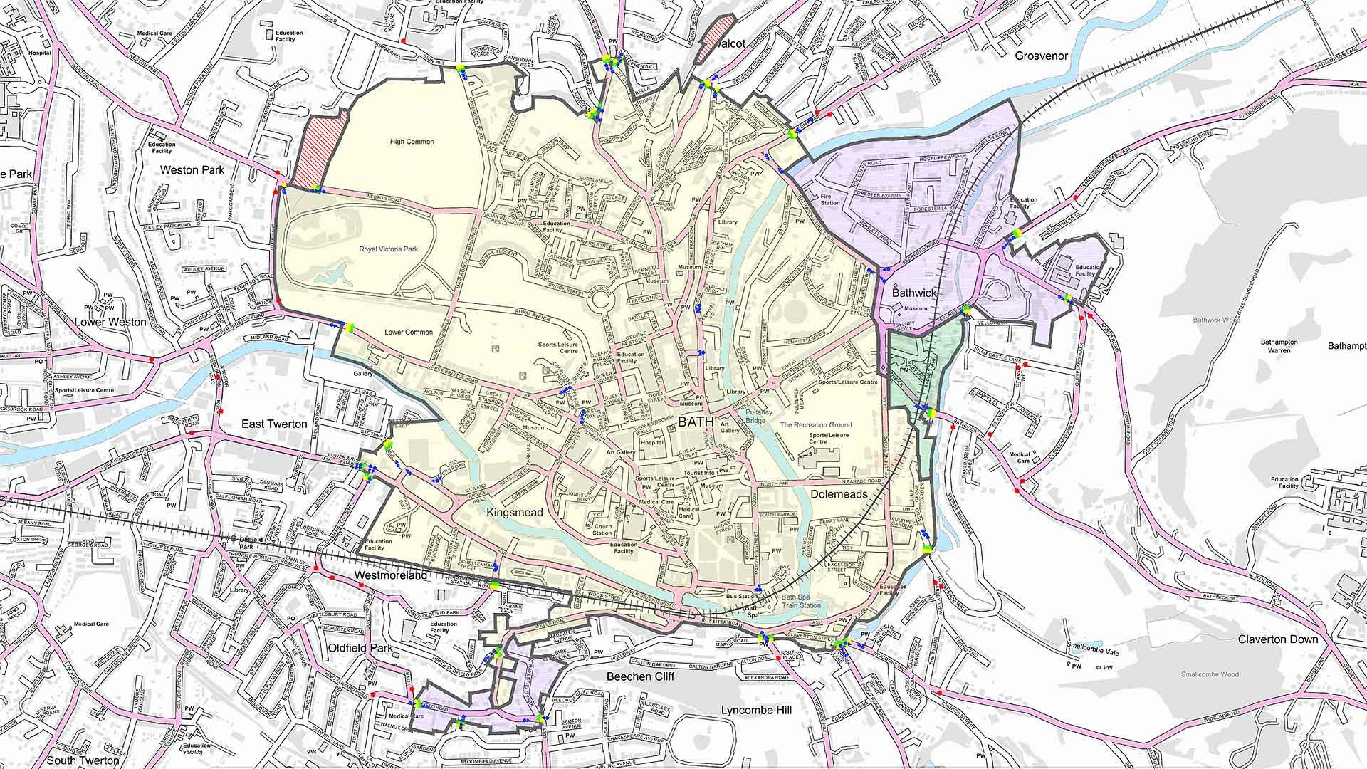 Bath Clean Air Zone map