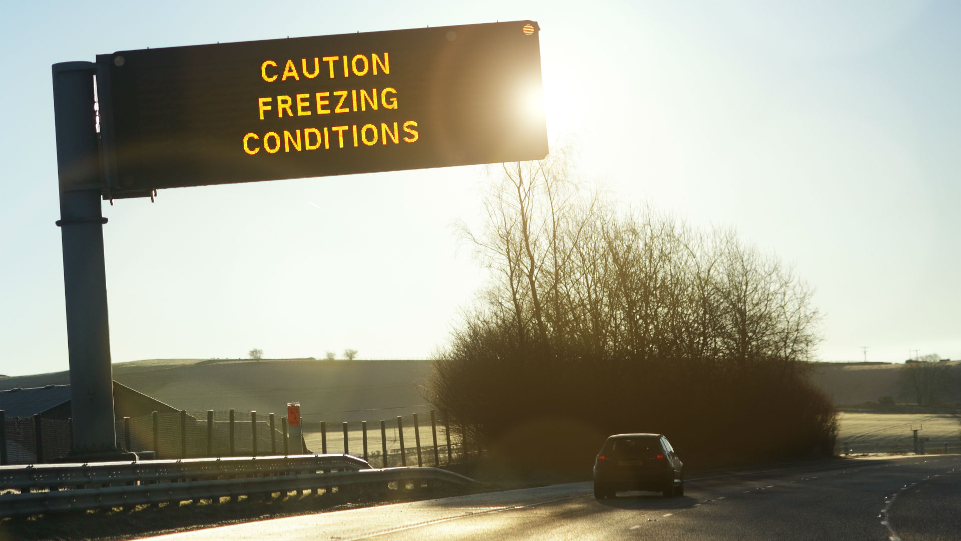 Caution freezing conditions