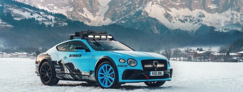 Bentley Continental ice racing