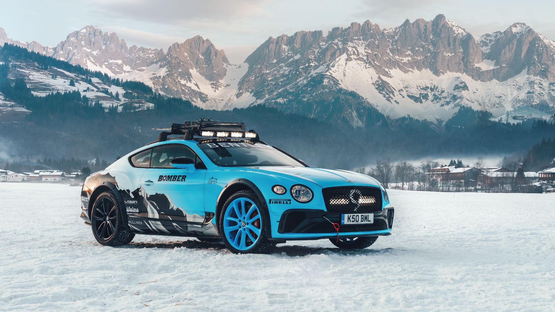 Bentley Continental ice racing