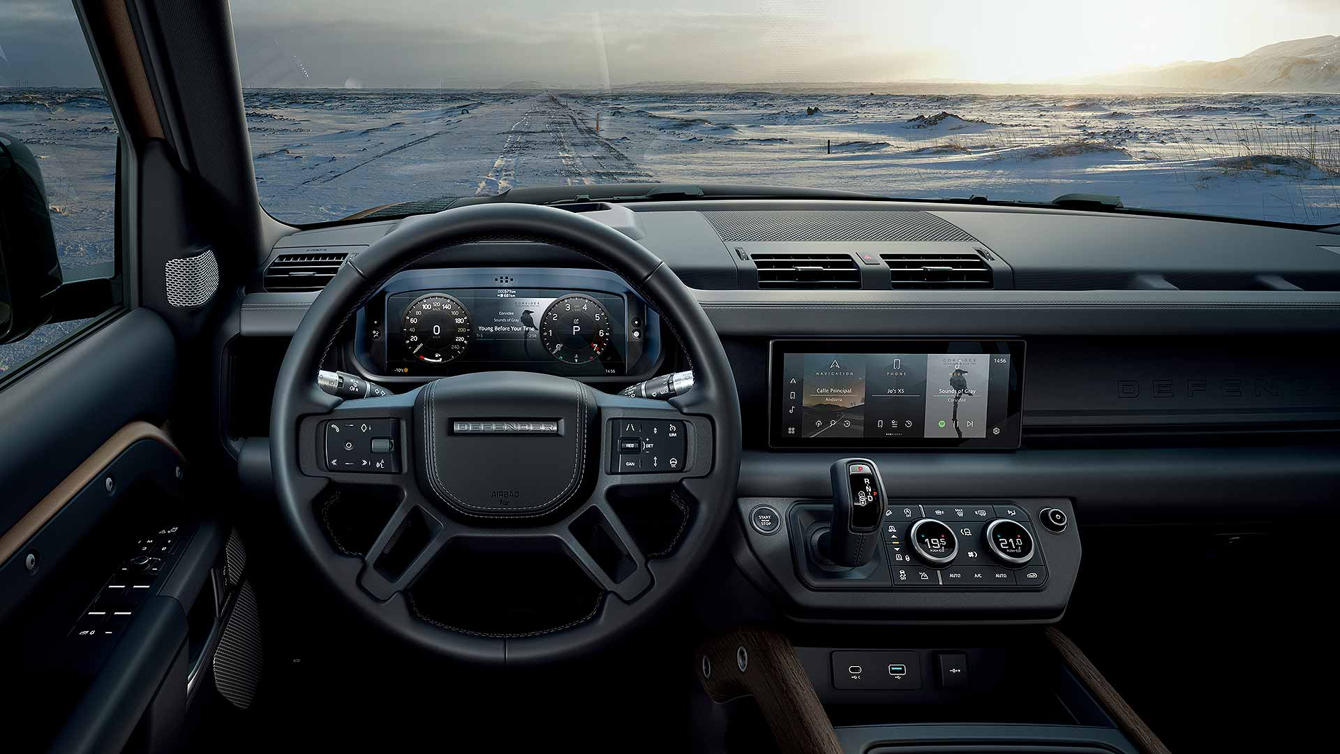 New 2020 Land Rover Defender interior
