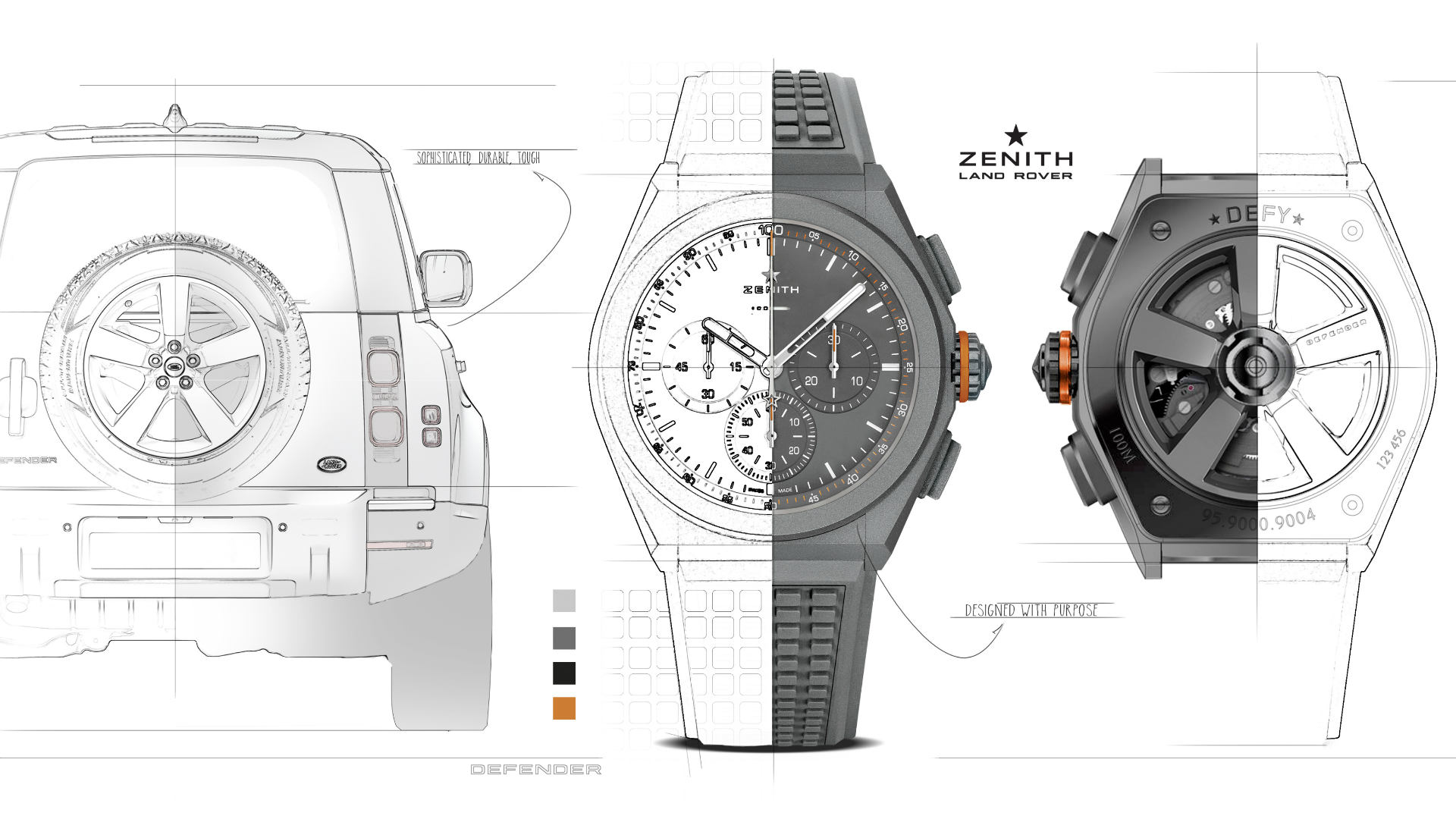 Land Rover Zenith Defy 21 Watch Graphic
