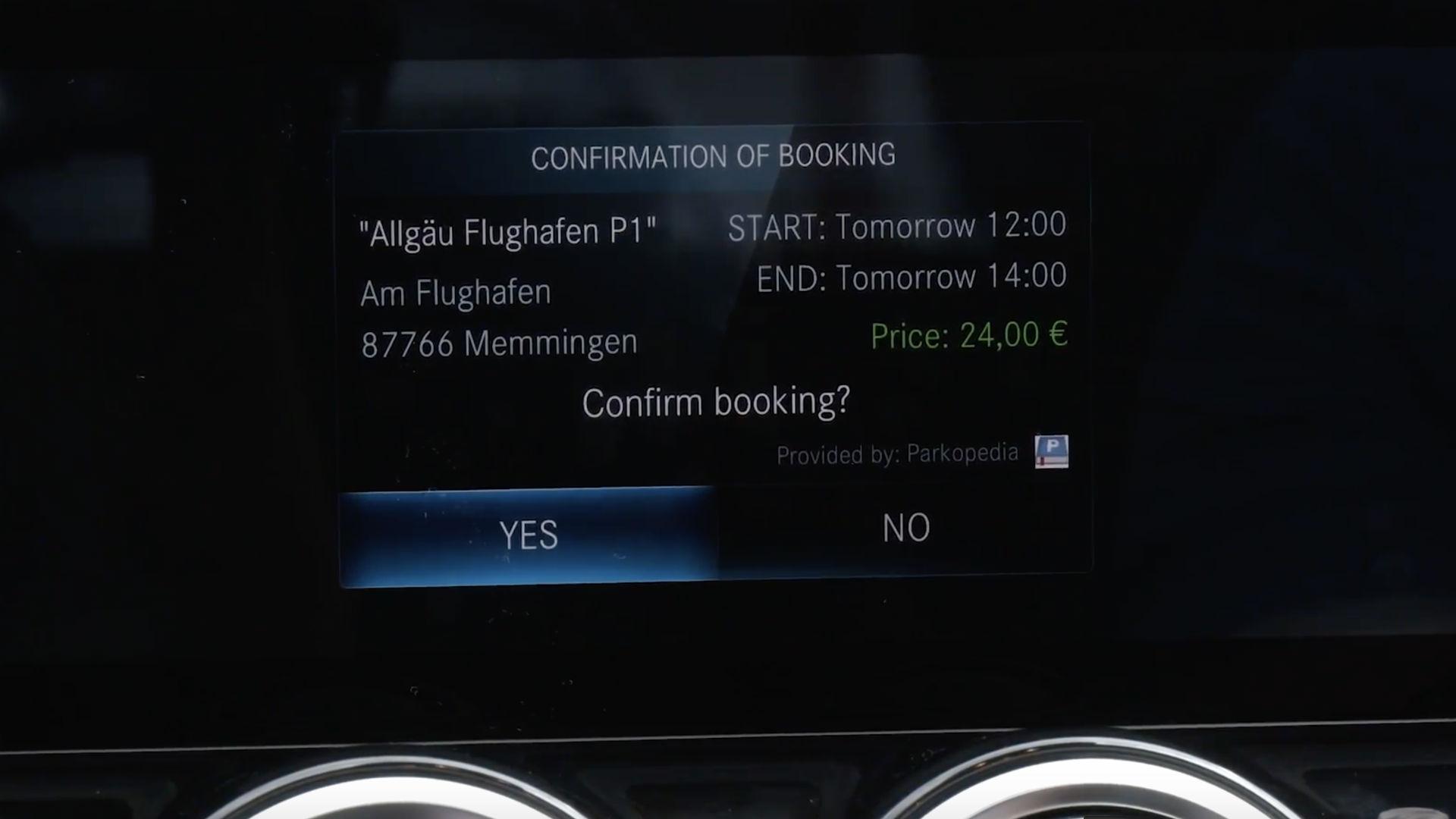 Mercedes parking payment