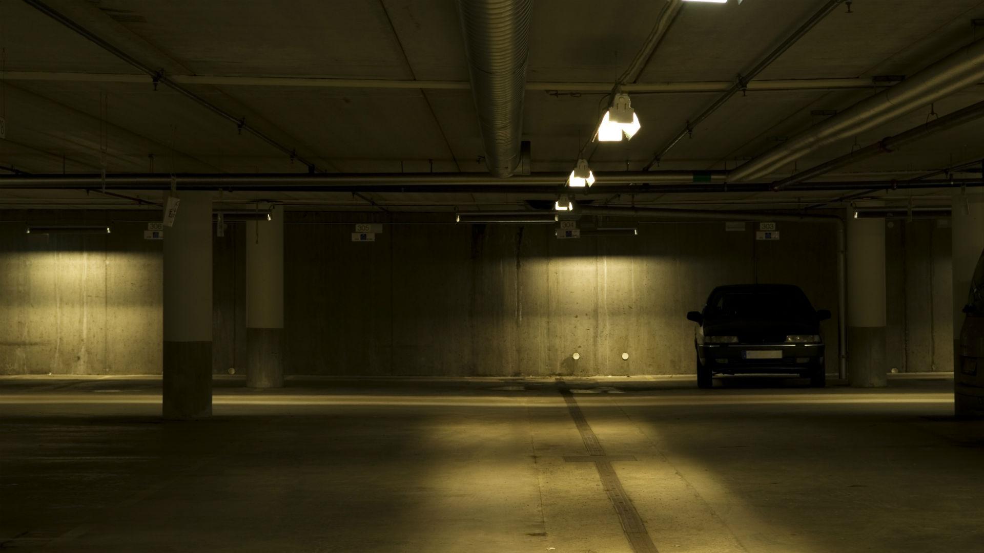 car in underground car park