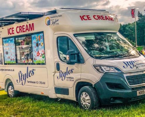 Styles Solar Van world's first electric ice cream van