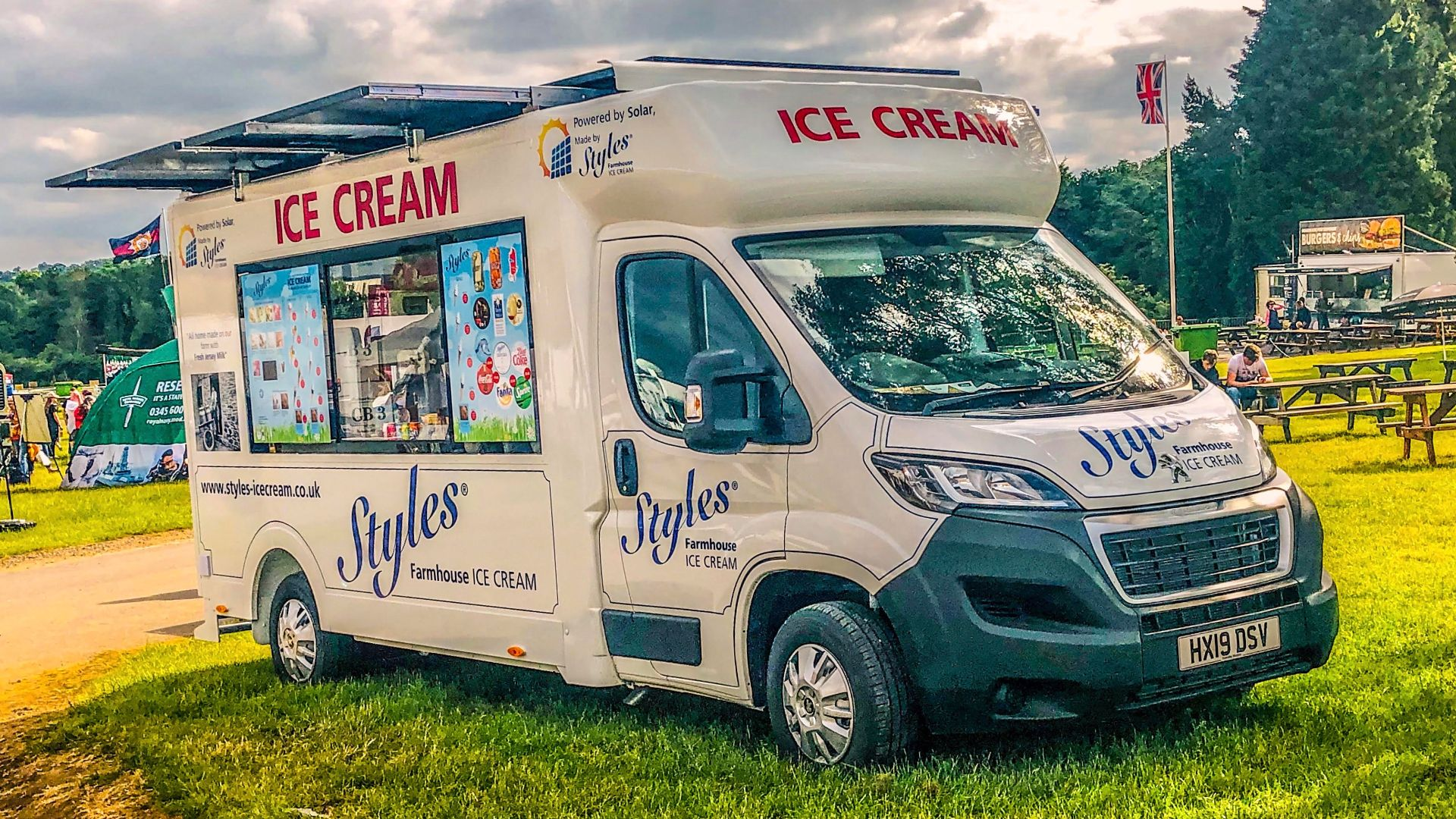 Styles Solar Van world's first electric ice cream van