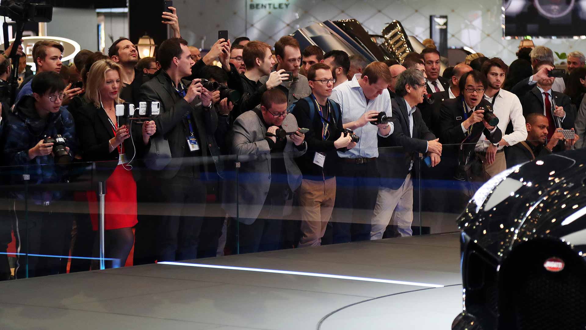 Crowds at the Geneva Motor Show