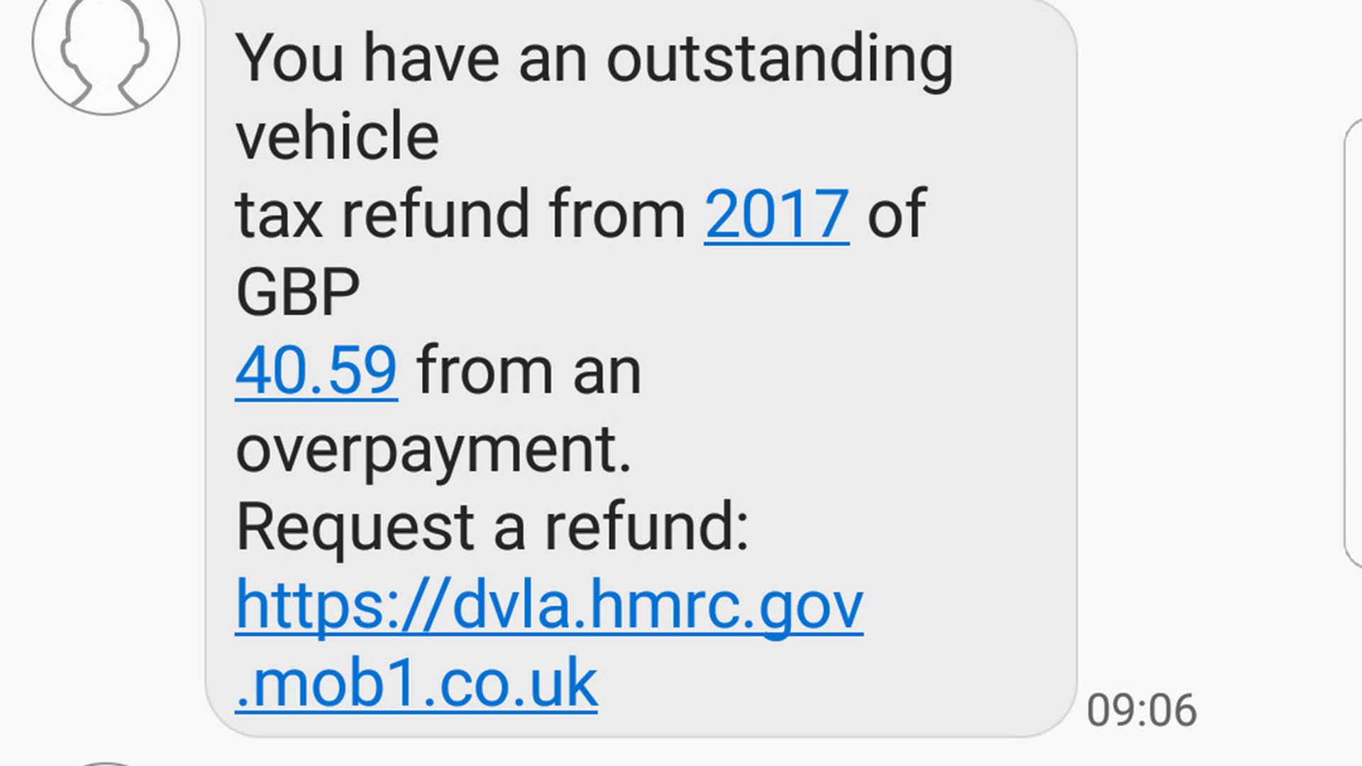 DVLA tax refund scam