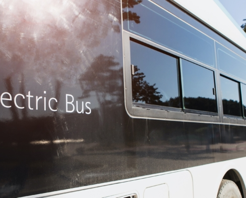 Electric bus town in UK
