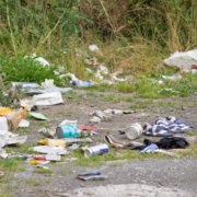Litter in a lay-by
