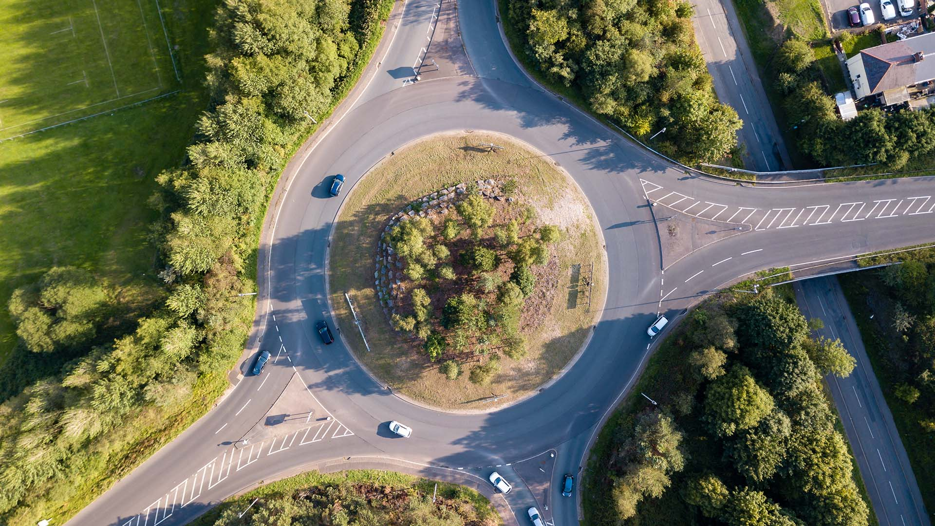 Roundabouts good for your health