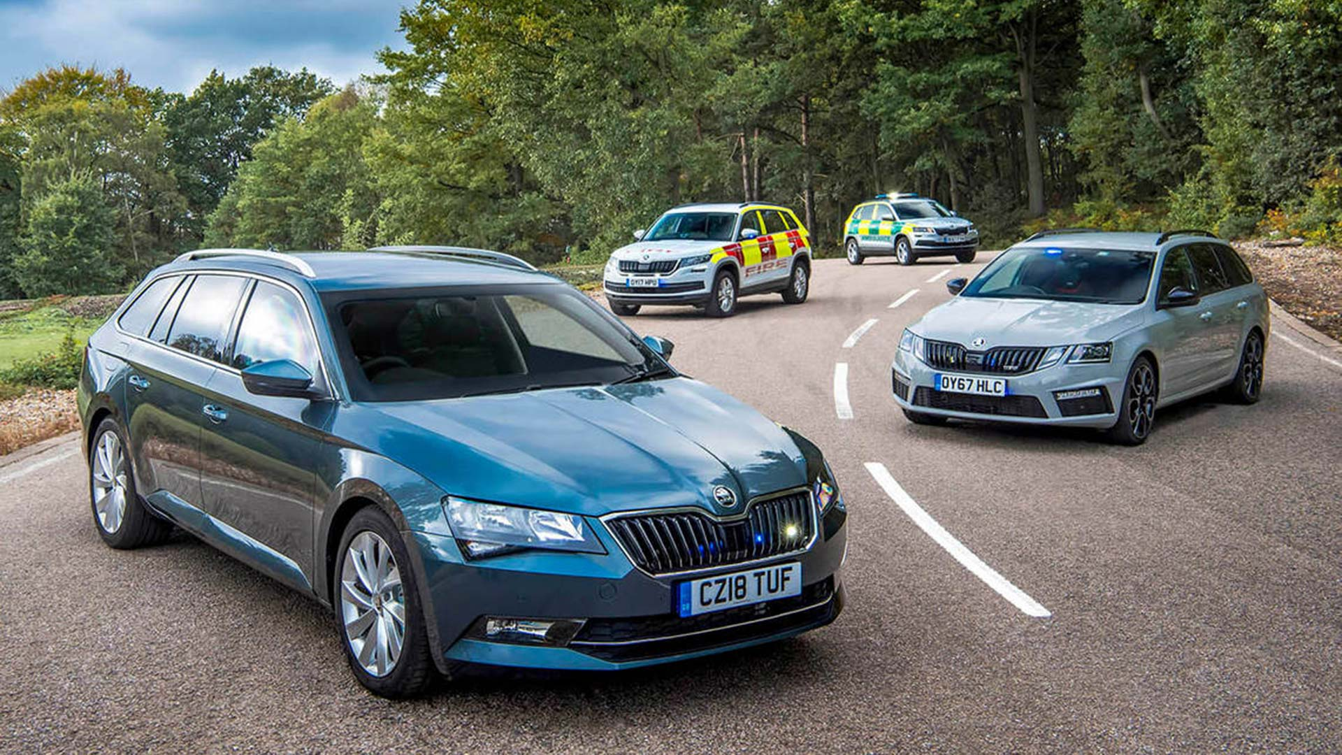 Skoda blue light sales success