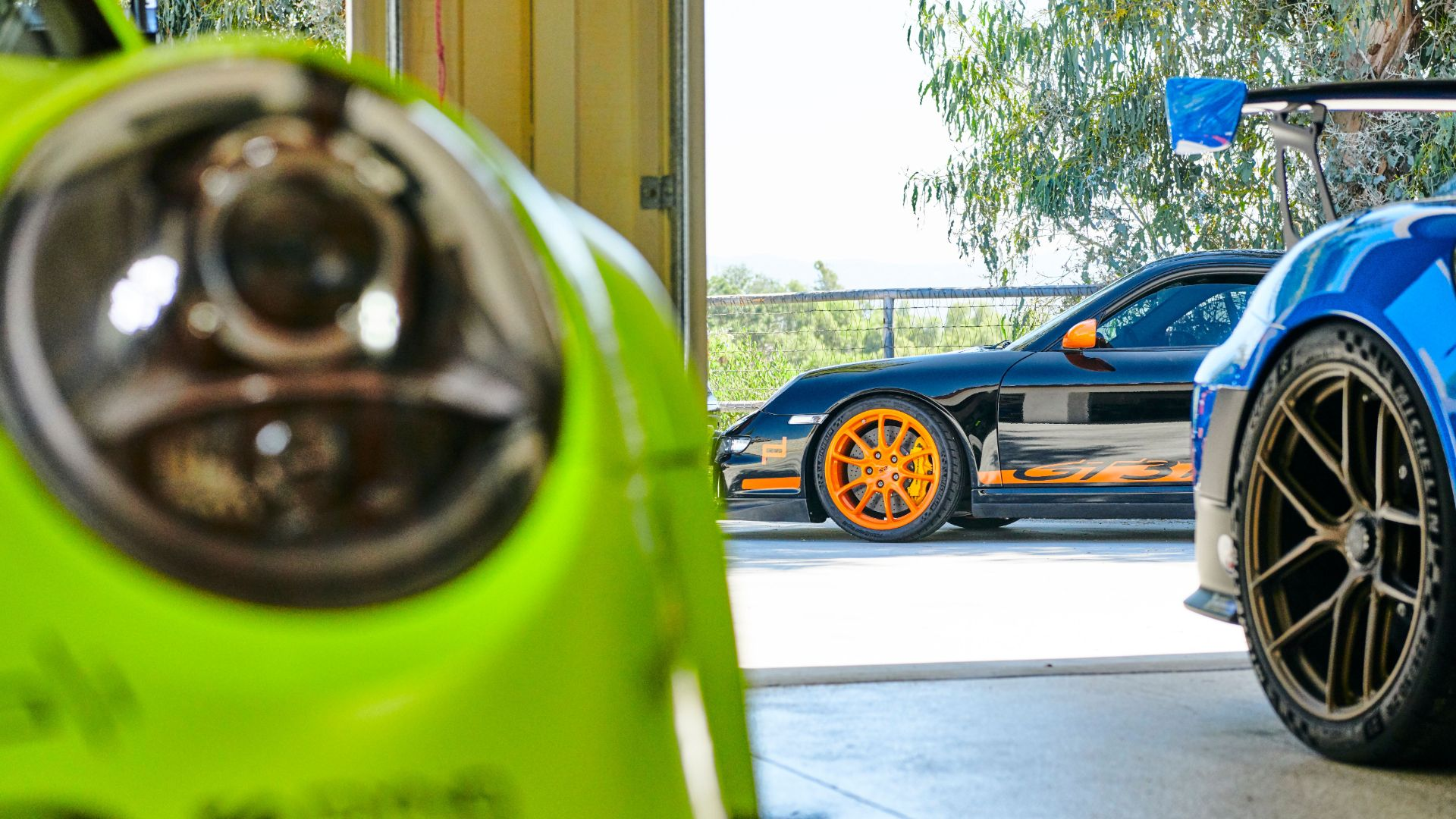 Porsche collector loves bright colours