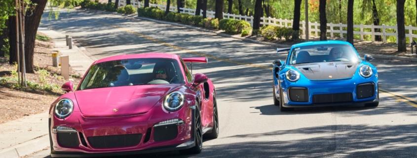 Porsche collector loves bright colours
