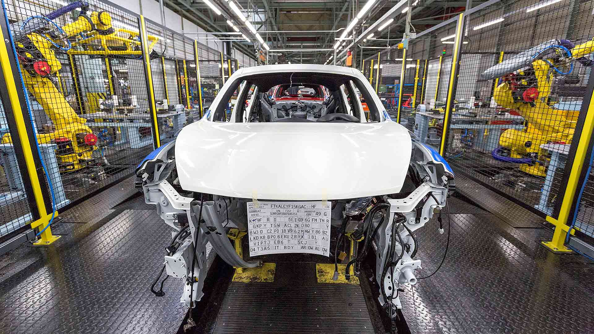Nissan Juke car production in Sunderland