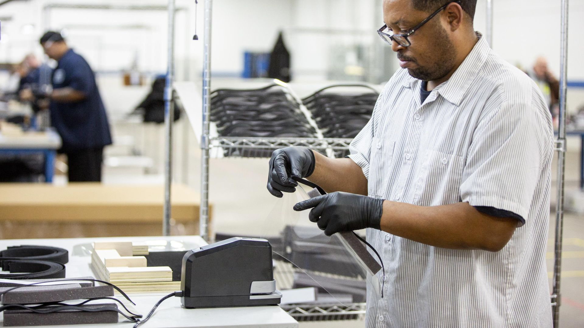 Ford parts in PPE manufacturing