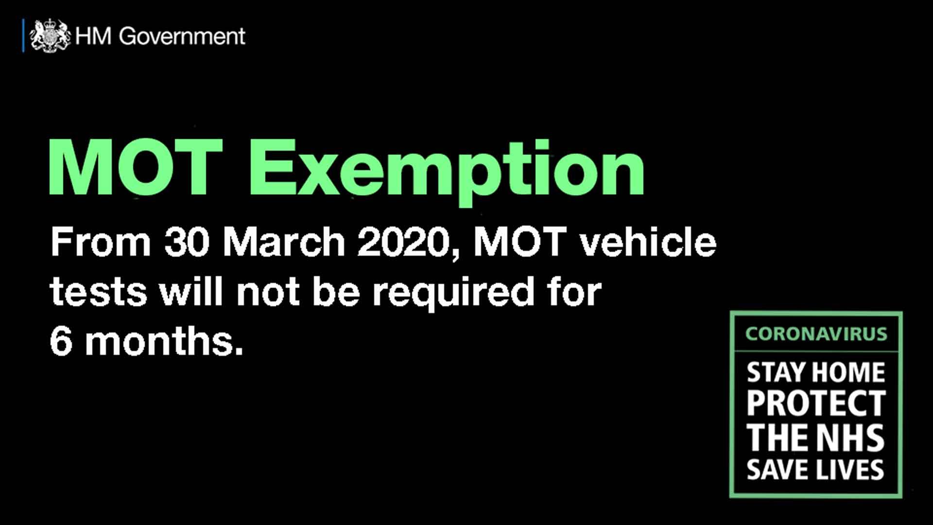 Covid-19 MOT exemption