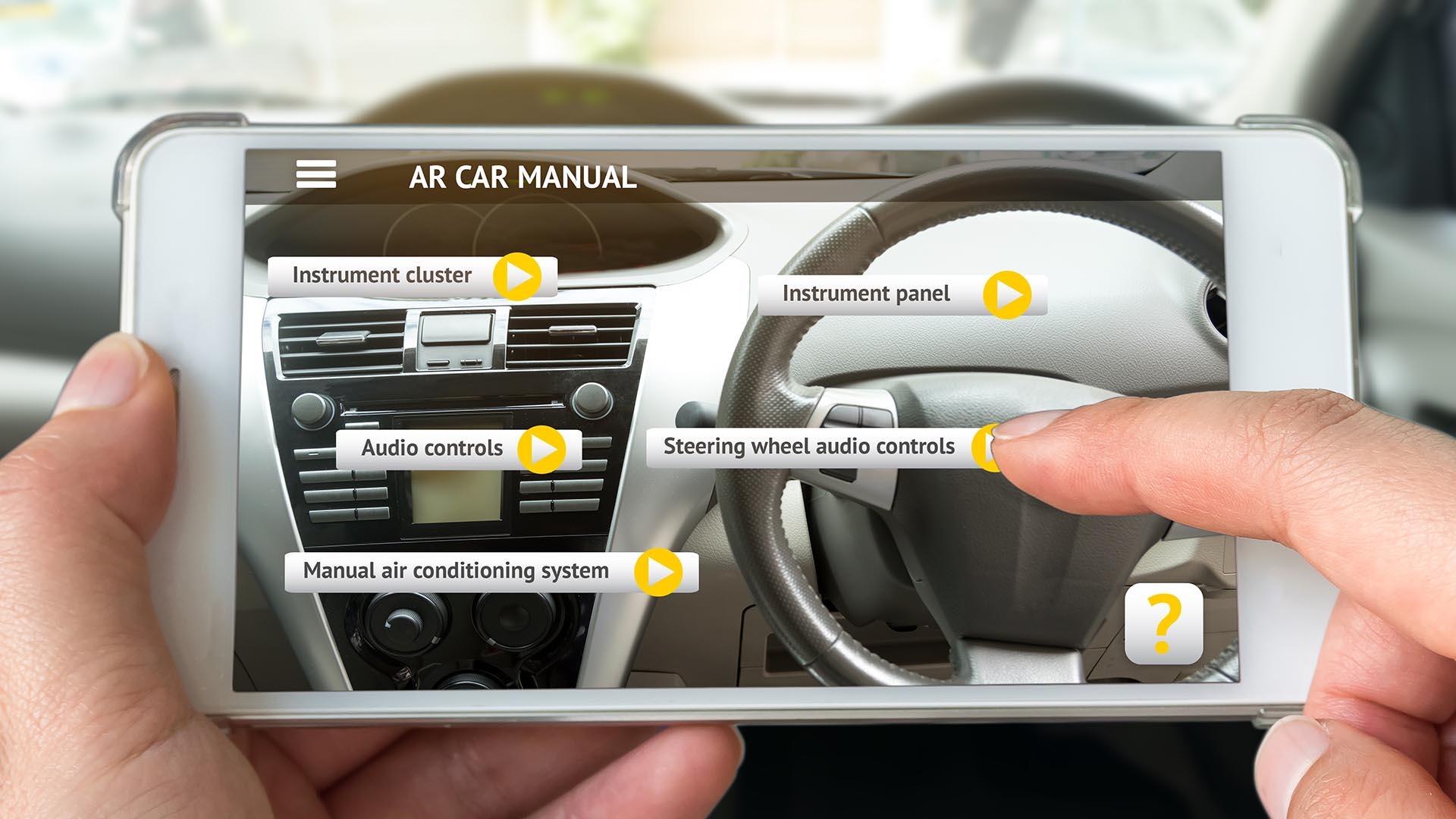 AR car manual