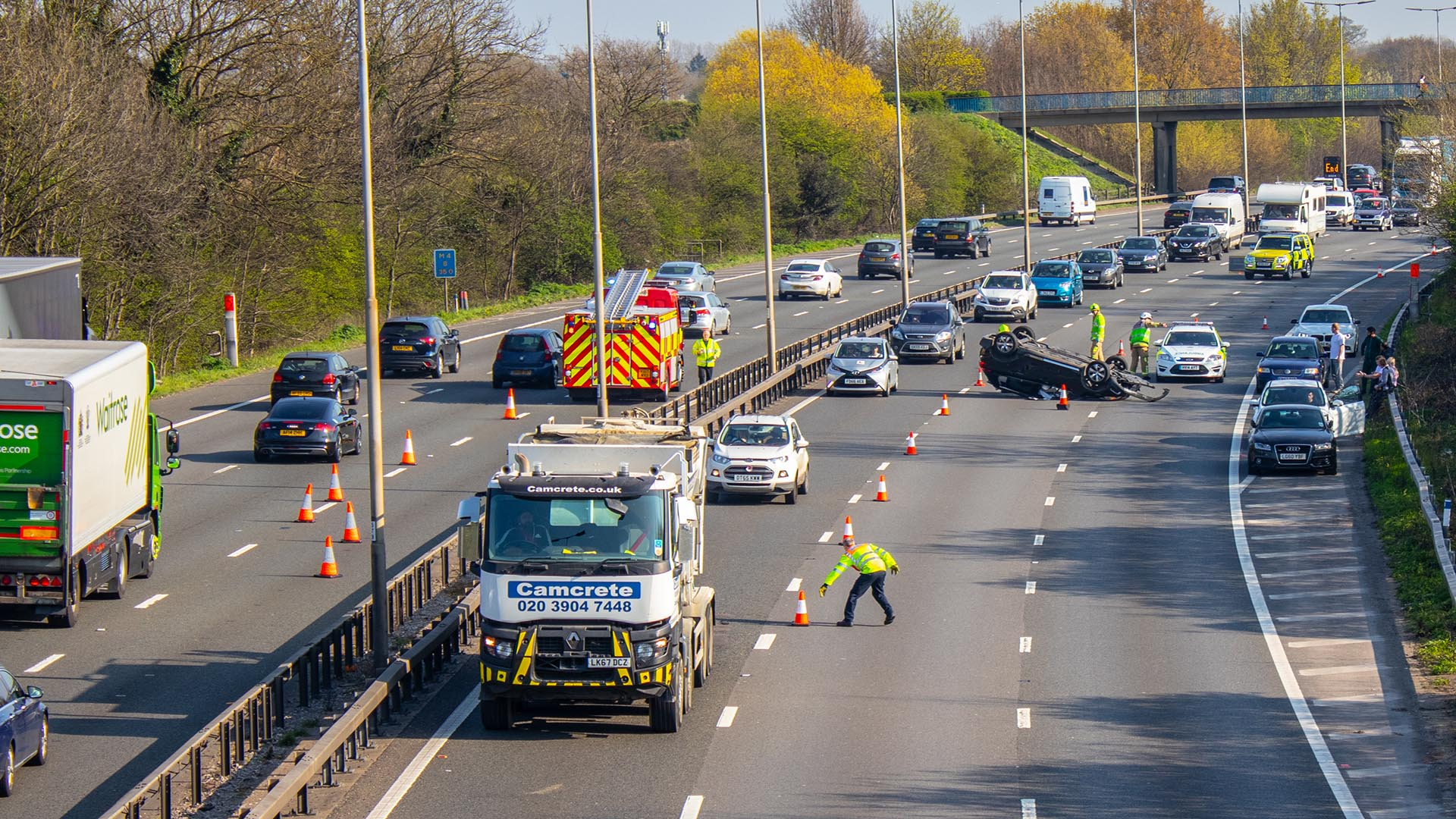 Accident on M25 motorway