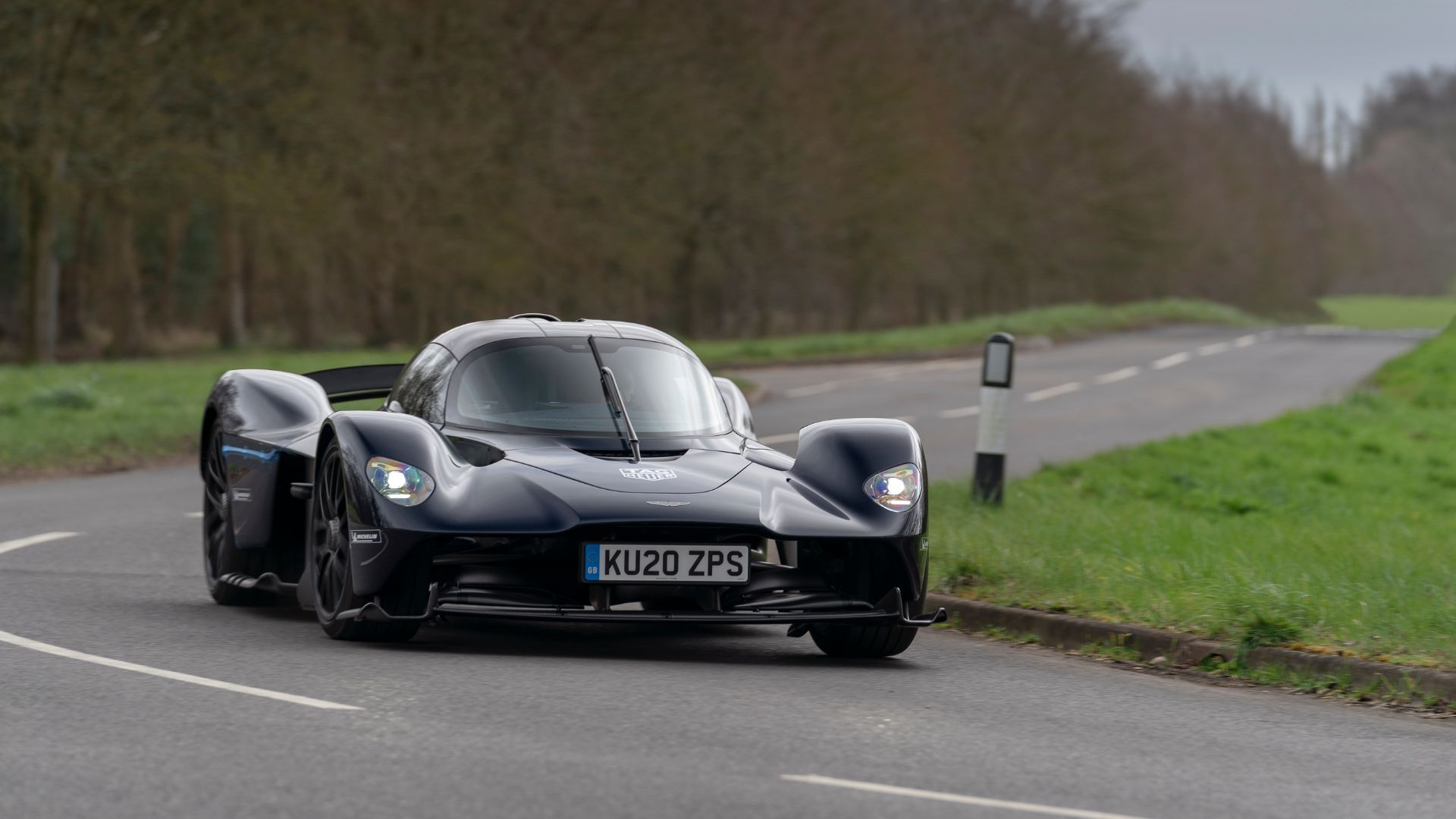 Aston Martin Valkyrie testing on the road