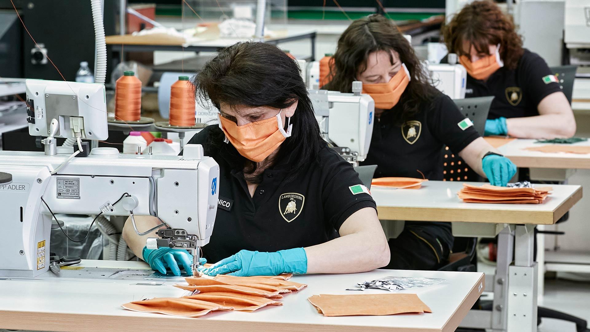 Lamborghini covid face masks