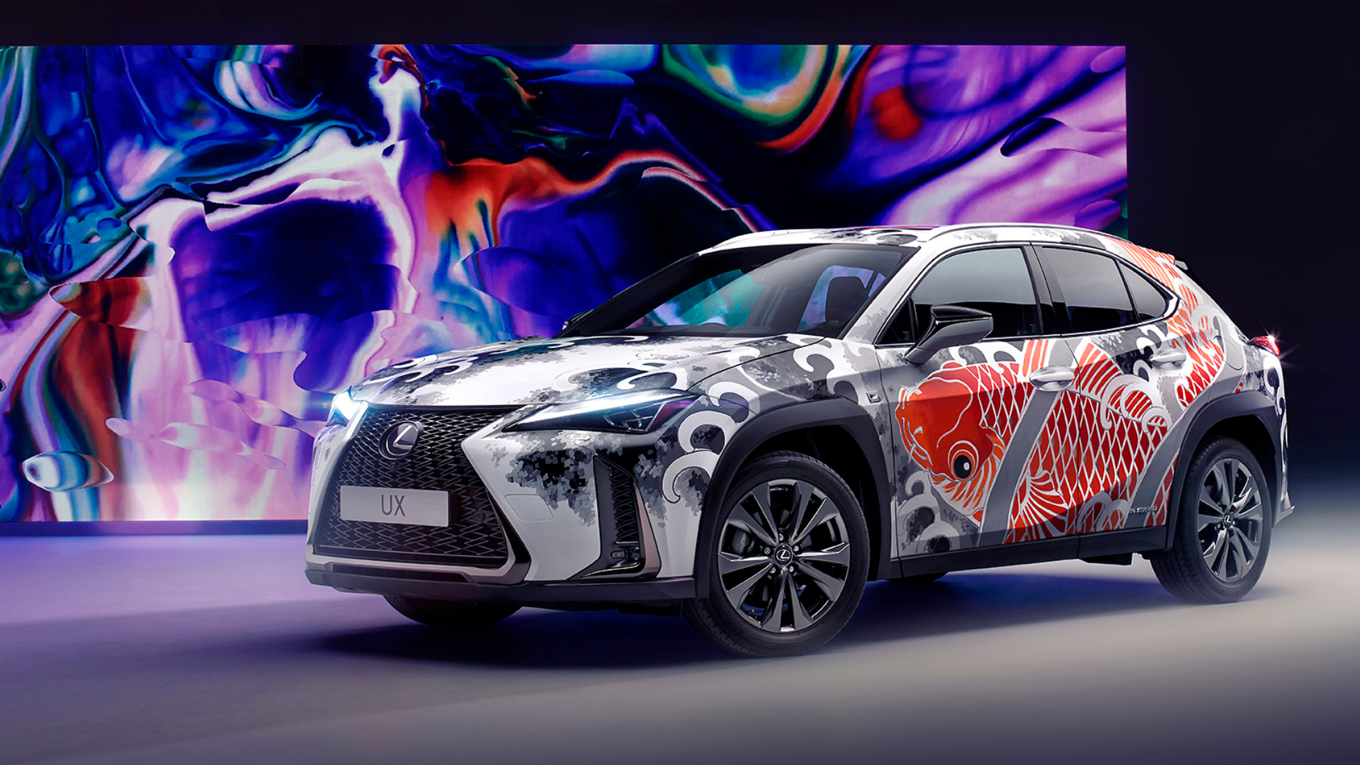 Lexus UX is the world's first tattooed car