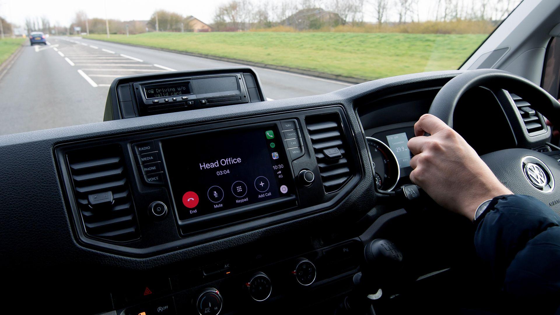 Van drivers till use their phones behind the wheel