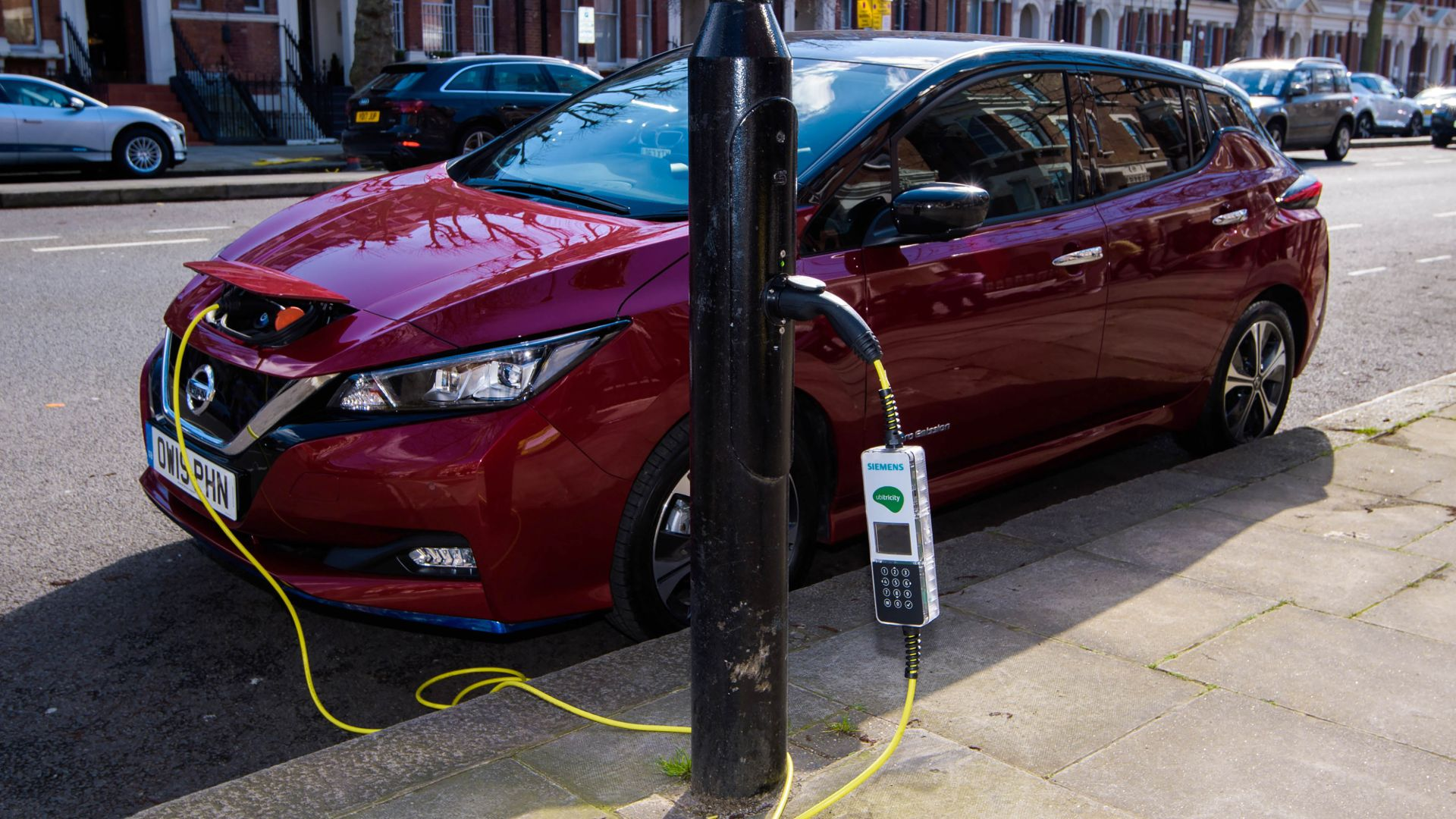 'Electric avenue' opens in london with full street lamp car charging conversion