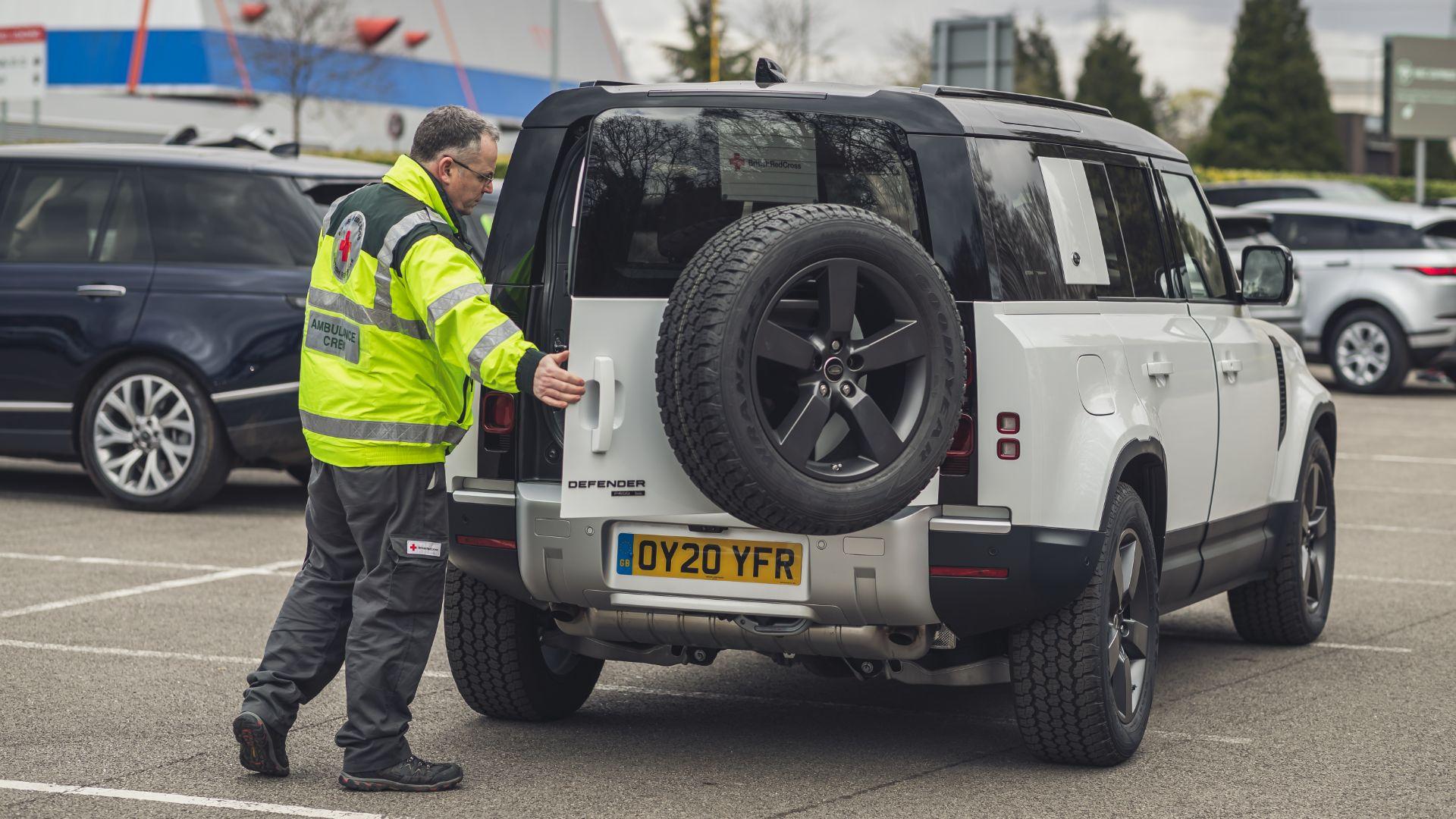 Jaguar Land Rover Red Cross coronavirus