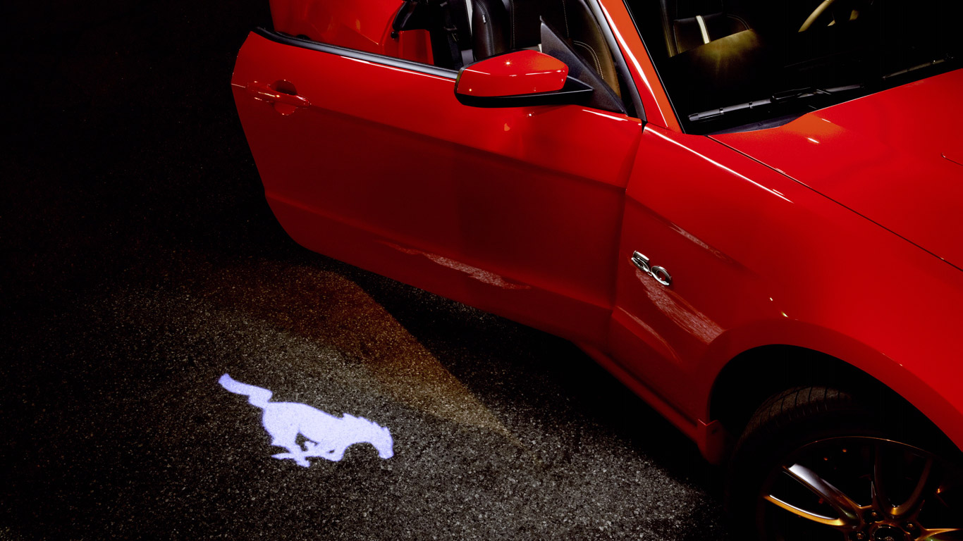 New Ford Mustang and the pony projection