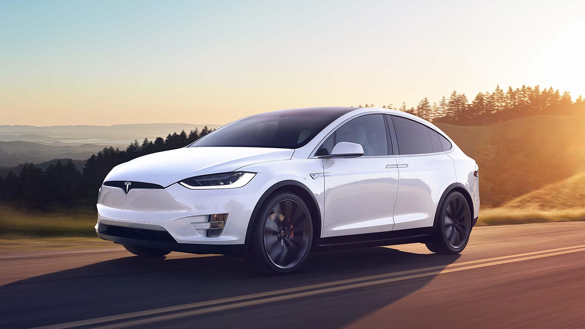 Tesla Model X in white