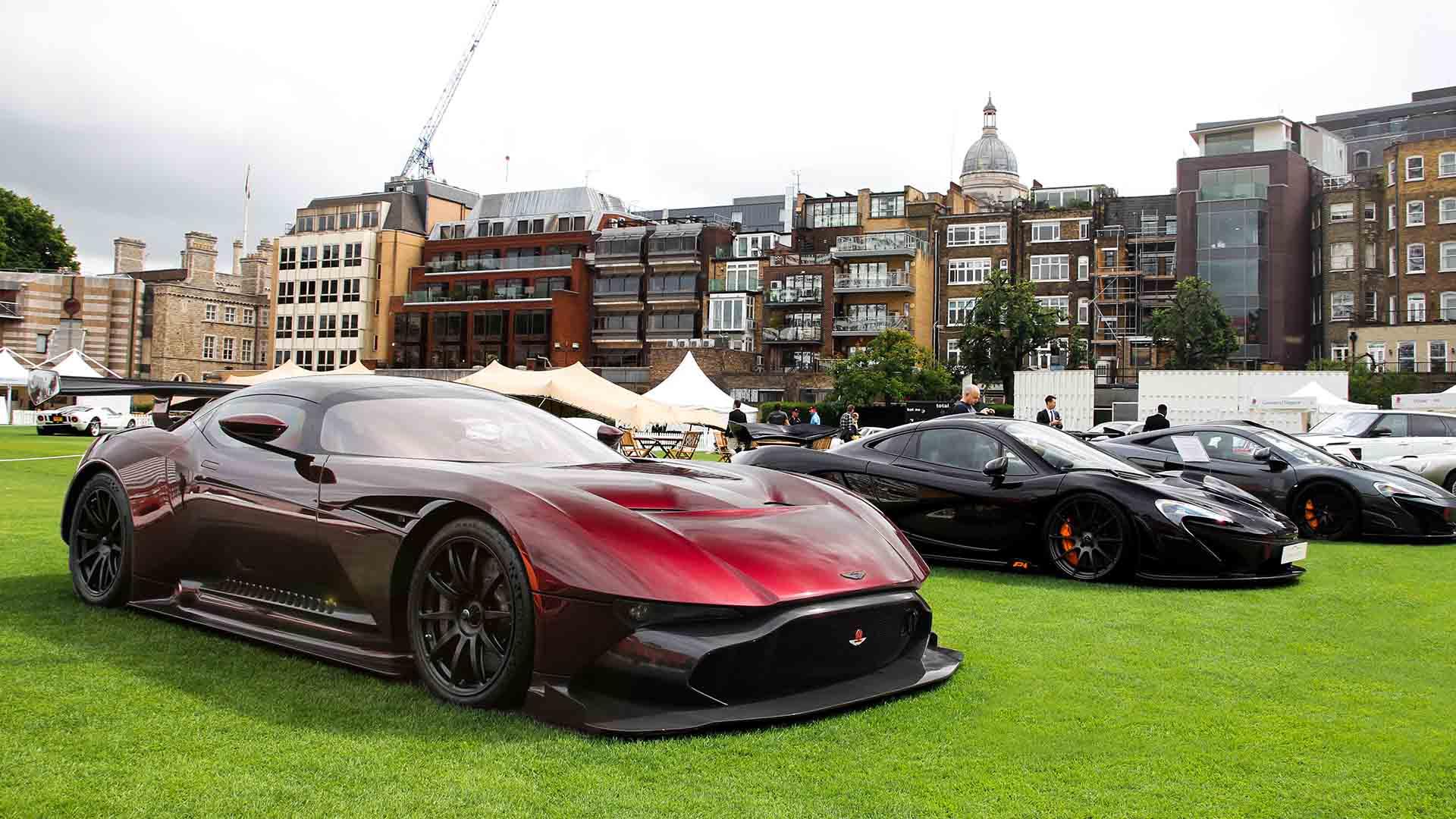 Aston Martin Vulcan and McLaren P1