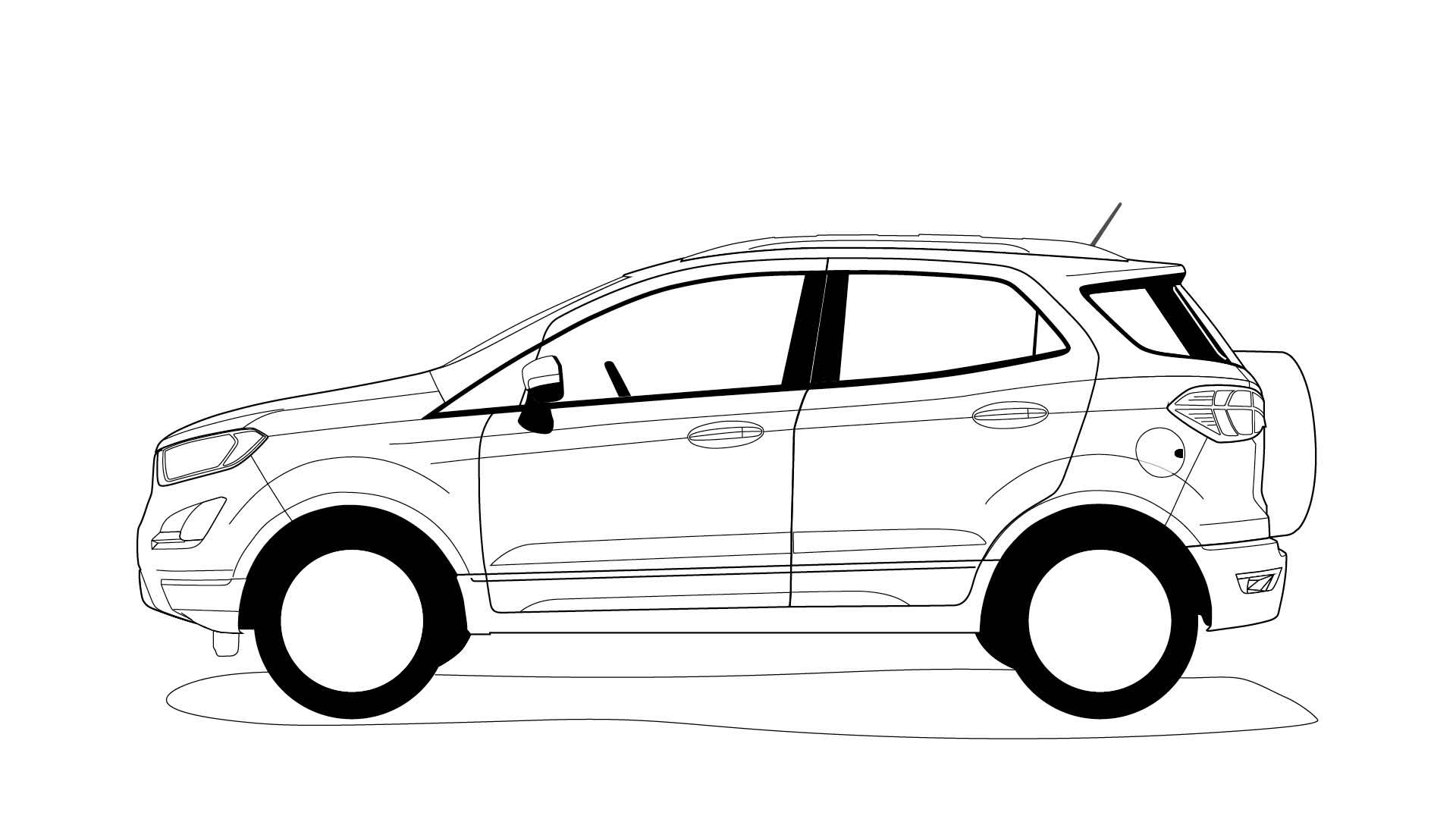 Ford EcoSport outline