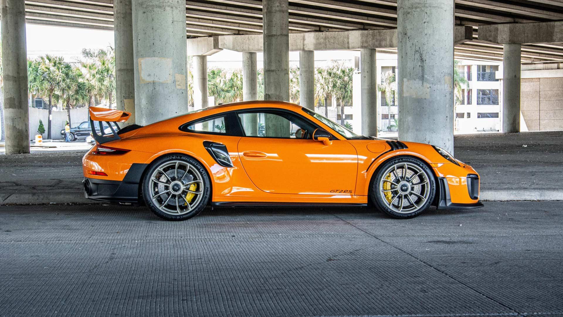 Bring a Trailer Pastel Orange Porsche 911 GT2 RS