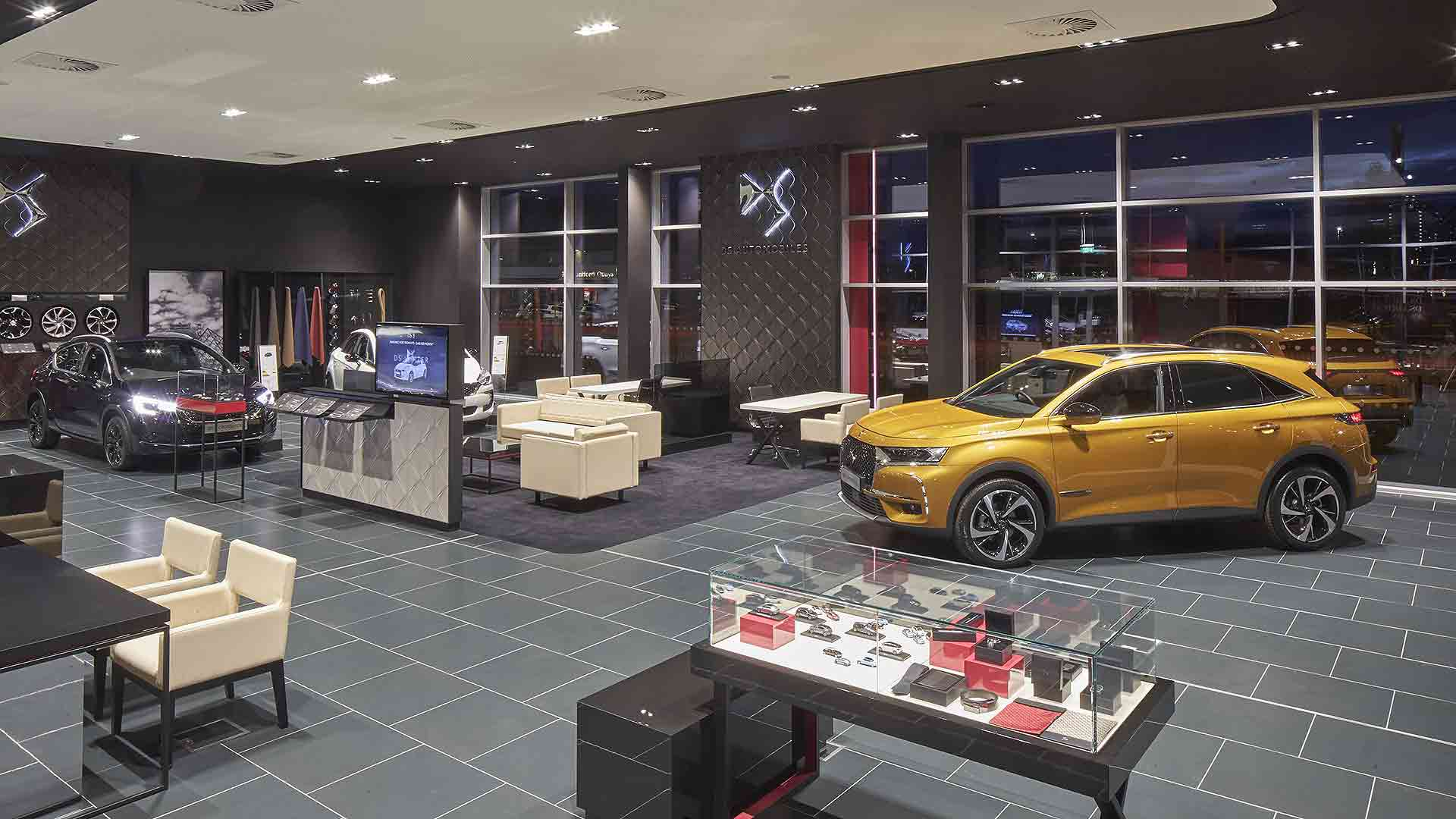 DS Store in Manchester. Car showrooms are spacious areas that are as safe as garden centres, says the industry trade body