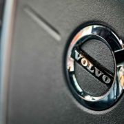 Volvo steering wheel logo: the automaker is now electronically limiting all its cars to a 112mph top speed