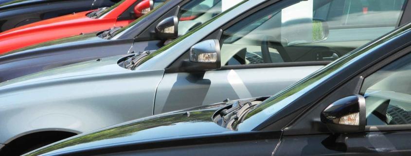 Used car forecourt