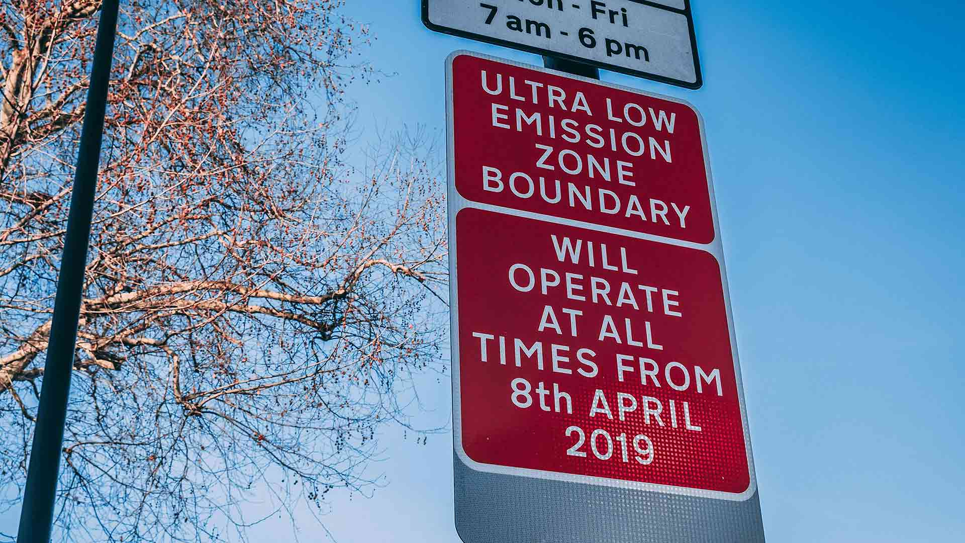 London Ultra Low Emission Zone roadsign