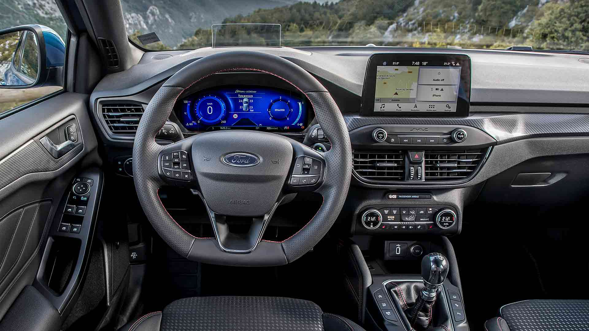 2020 Ford Focus interior with new digital cluster