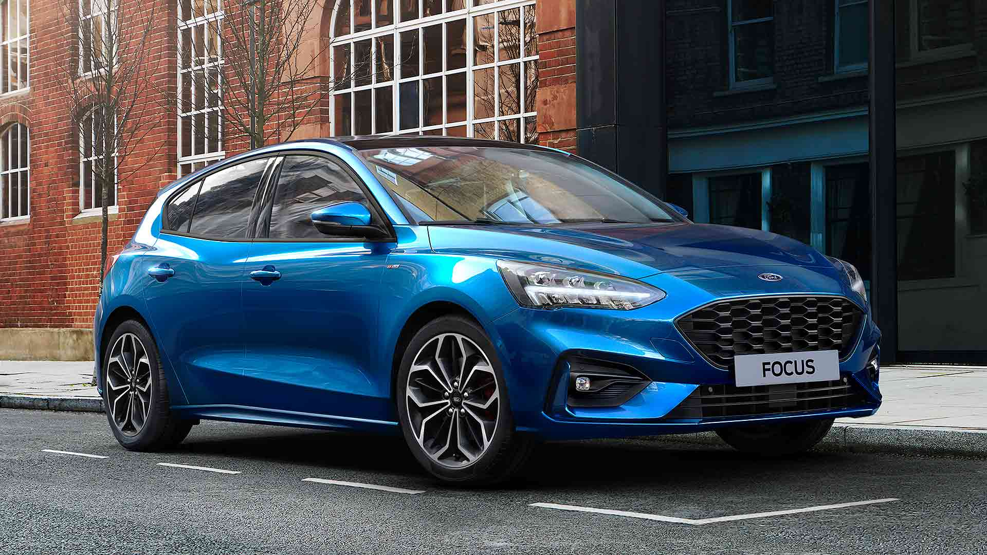 2020 Ford Focus Ecoboost Hybrid in blue