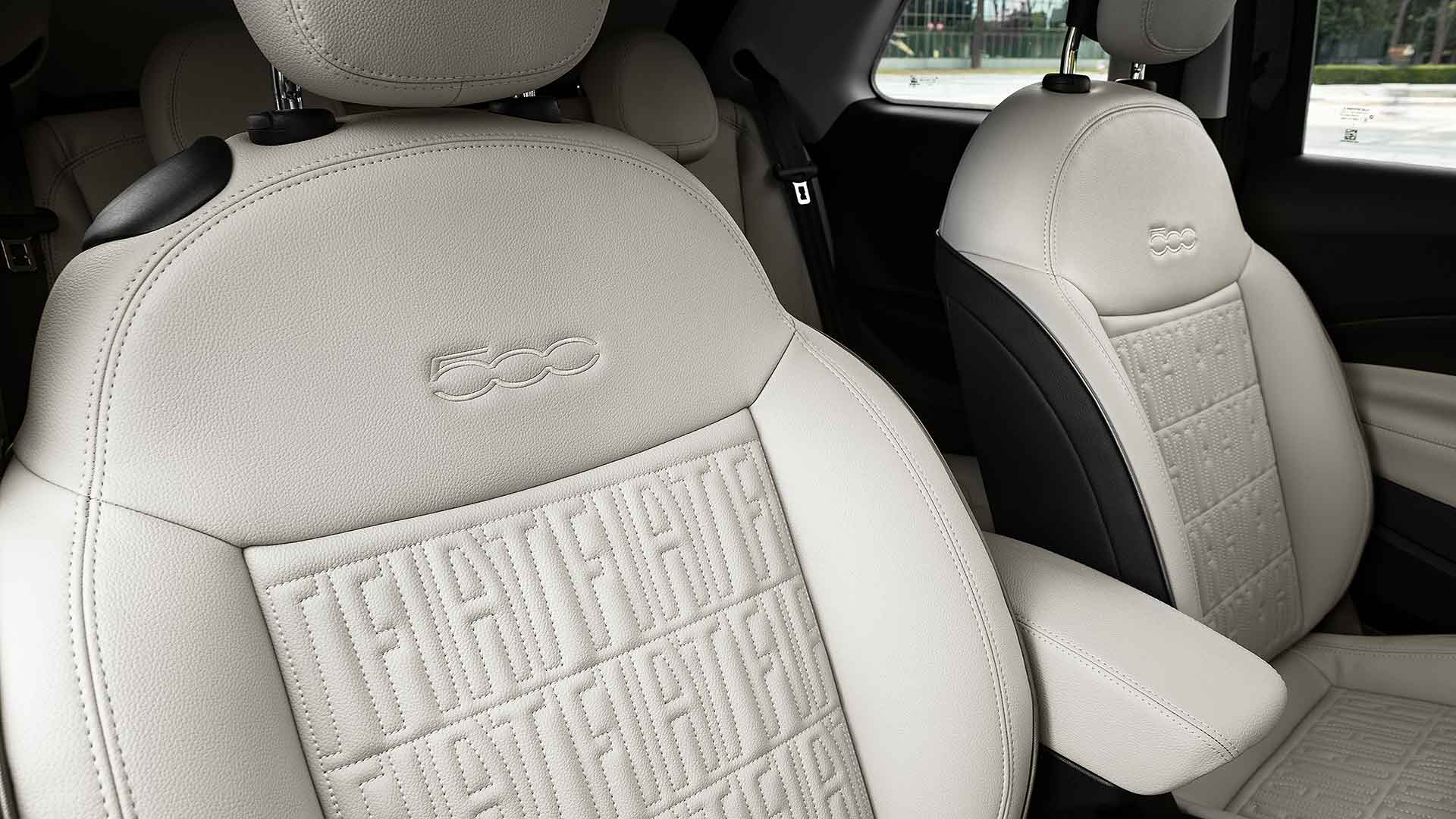 Electric Fiat 500 hatch seats