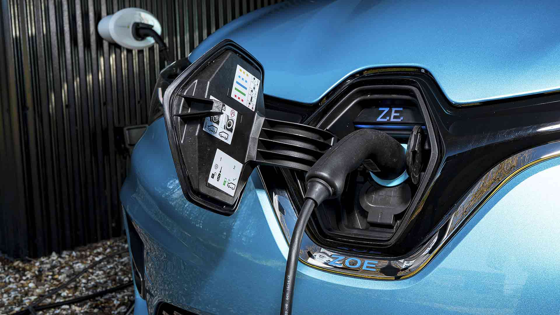 Renault Zoe plug-in electric car