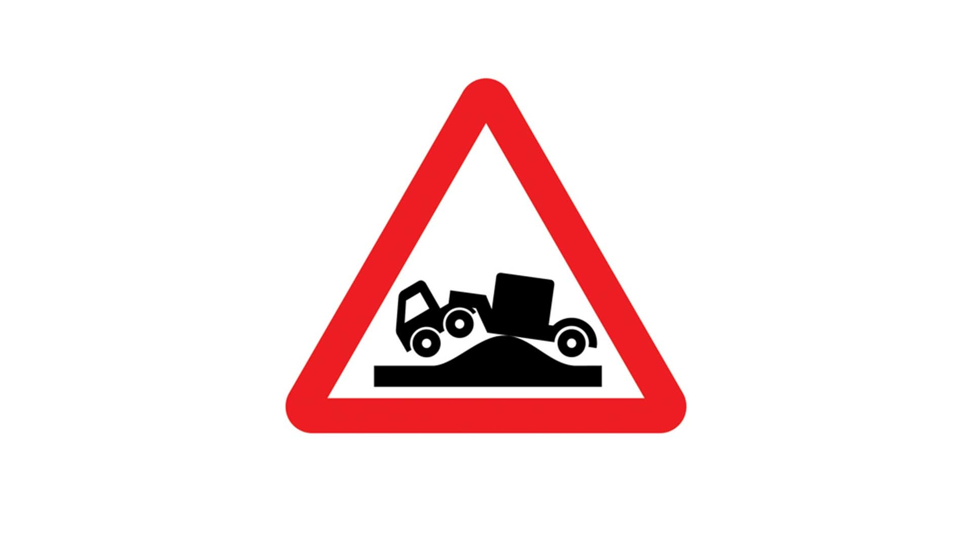 Risk of grounding road sign