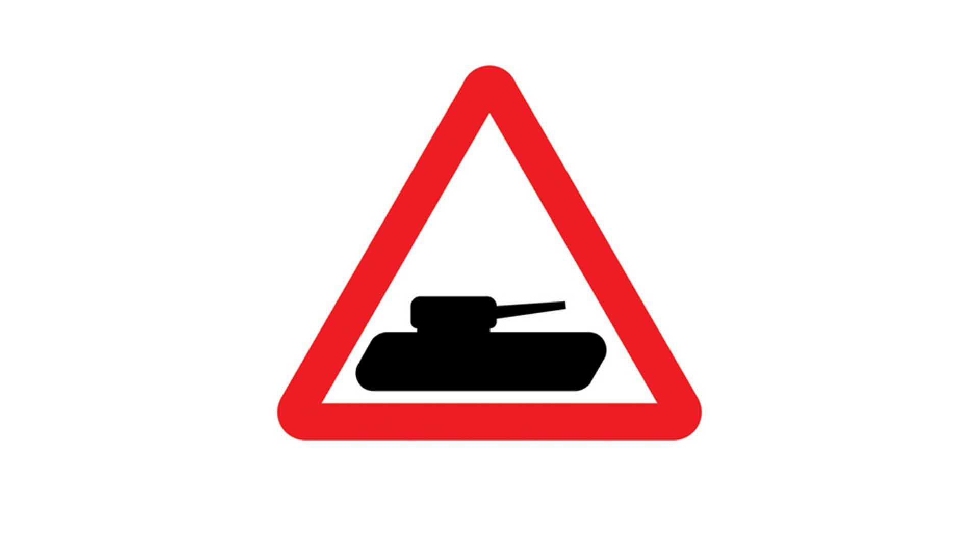 Slow moving military road signs