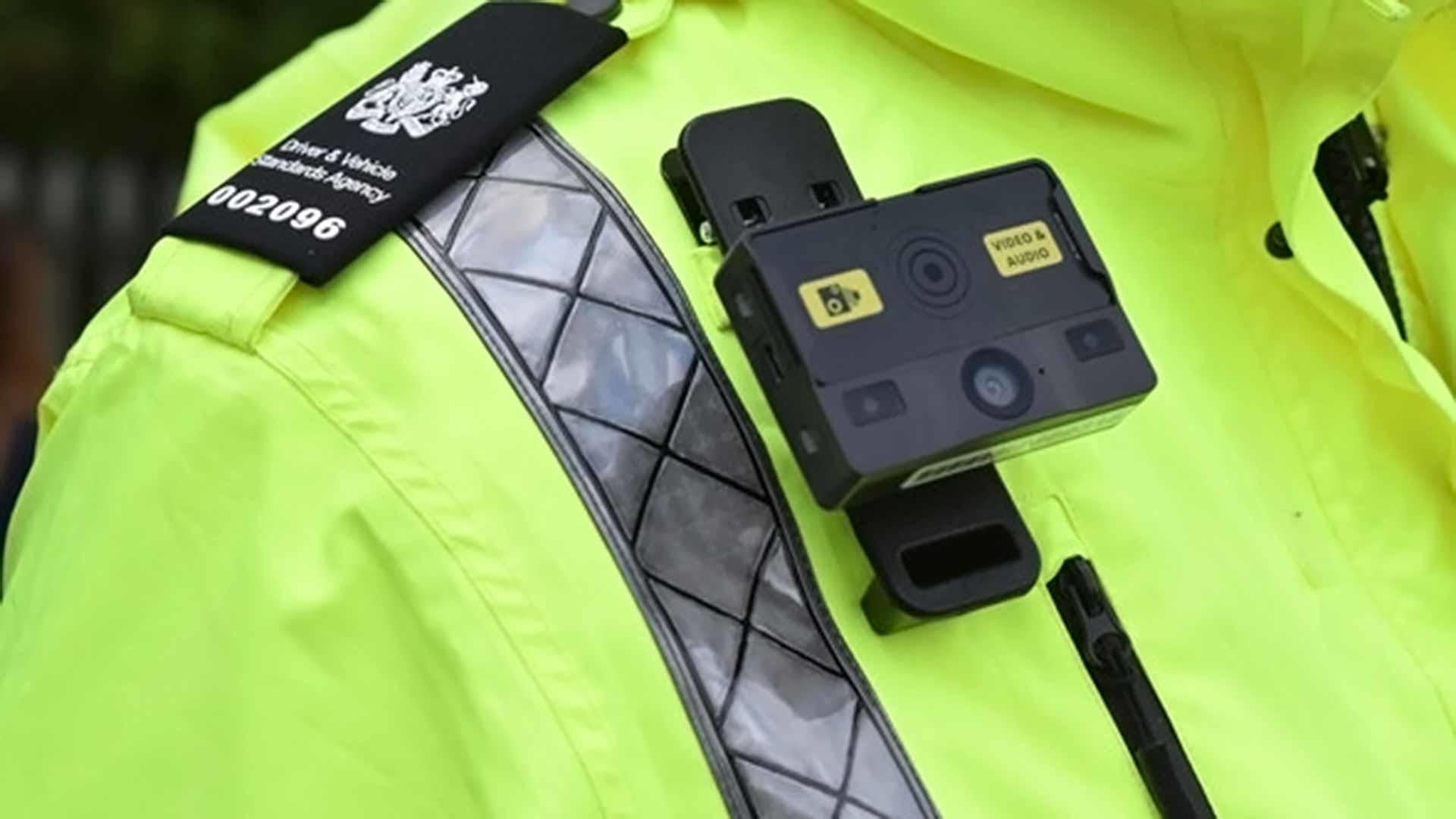 Body cam on DVSA enforcement officer